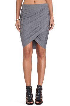 Grey Slim Bodycon Skirt - abaday.com