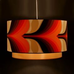 ø60cm lampshade, made from original seventies fabric