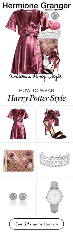 """""""Hermione Granger - Harry Potter - CHRISTMAS PARTY STYLE"""" by nerd-ville on Polyvore featuring Sam Edelman, Co.Ro, Bobbi Brown Cosmetics, Gianvito Rossi and CLUSE"""