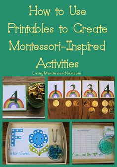 How to Use Printables to Create Montessori-Inspired Activities (from Living Montessori Now)
