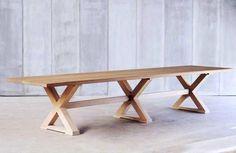 heerenhuis cross table. Belgian. Oak.