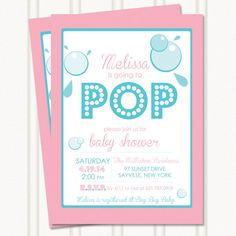 Ready to POP Baby Shower Invitation on Etsy, $16.50