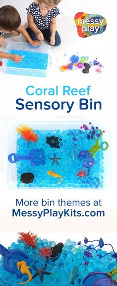 Water play and sensory play for kids with an ocean and underwater theme! Preschool Science, Preschool Learning, Toddler Preschool, Early Learning, Learning Toys, Teaching, Toddler Crafts, Sensory Activities Toddlers, Indoor Activities