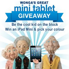 Wonga's Great Mini Tablet Giveaway Kids On The Block, Ipad Mini, Giveaways, Cool Kids, Cool Stuff, Movie Posters, Cool Things, Film Posters, Billboard