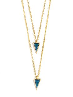 Bauble Bar double layer pendant necklace - out of stock but I Love it! #baublebar
