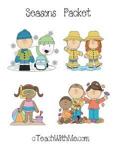 Classroom Freebies: 4 Seasons Packet