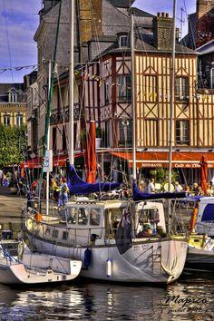Le port d'Honfleur (Normandie, France)