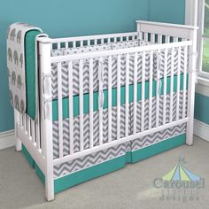 Custom crib bedding designer by Carousel Designs. Mix and match hundreds of fabrics to create your own unique baby bedding. Baby Boy Crib Bedding, Baby Boy Cribs, Custom Baby Bedding, Baby Boy Rooms, Baby Room, Nursery Design, Nursery Room, Bed Design, Carousel Designs