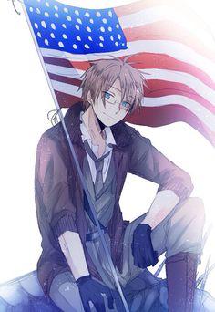 Hetalia (ヘタリア) - America/The United States (アメリカ)Happy fourth of July America!