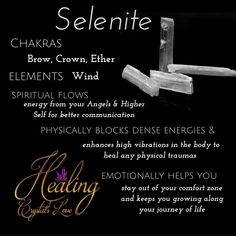 Selenite #crystals