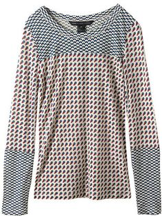 ShopStyle:  Marc by Marc Jacobs (マーク BY マークジェイコブス) KATINKA PRINTED JERSEY ロングスリーブT