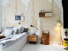 raw bedroom walls on Anya Adores