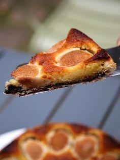 Photo de recette Tarte frangipane aux poires et au chocolat - Marmiton