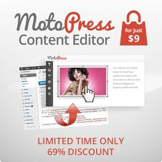 Simplify WordPress editing with MotoPress Content Editor. Limited time offer now available for $9.