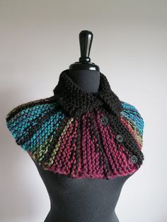 Turquoise Black Burgundy Maroon Green Color by KnitsomeStudio