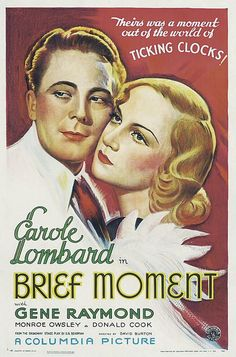 """""""Brief Moment"""" (1933) starring Gene Raymond & Carole Lombard on Antenna TV -- 4/29/2013 (Mon) at 7a ET & 5/5/2013 (Sun) at 7a ET."""