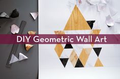 You'd be surprised at what a few triangles can do for your walls!