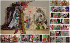Alice in Wonderland mini/photo album - available at Zibbet store: https://www.zibbet.com/enchanted-revelries/luxurious-extravagant-alice-in-wonderland-mini-album-and-photo-keepsake-book