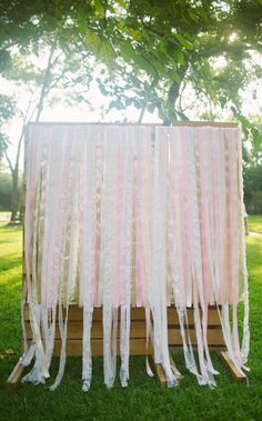 Pink, white and gold backdrop