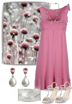 """""""Pink & Pearl"""" by diamondcrazy on Polyvore"""