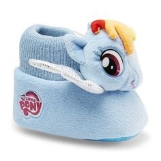 My Little Pony Rainbow Dash Plush Head Socktop Slippers Toddler New My Little Pony, Hasbro My Little Pony, Rainbow Dash, My Little Pony Collection, Kids Slippers, My Little Pony Merchandise, Toys Online, Kid Styles, Toddler Girl