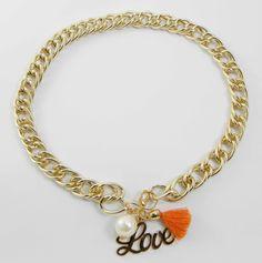 Collar Pompón Love 3,99 euros  http://www.missbrumma.com/#!product/prd1/2697446531/collar-pomp%C3%B3n-love