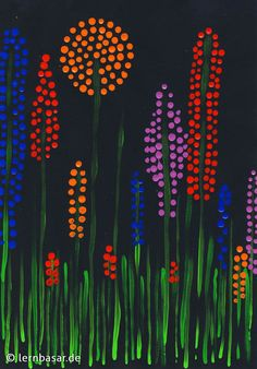 Spring meadow dot painting - Spring meadow dot painting Informations About Frühlingswiese Dotpainting Pin You can easily use my - Spring Art Projects, Spring Crafts, Classe D'art, 2nd Grade Art, Ecole Art, Kindergarten Art, Inspiration Art, Dot Painting, Cardboard Painting