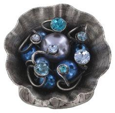 Ring Cupcake blau