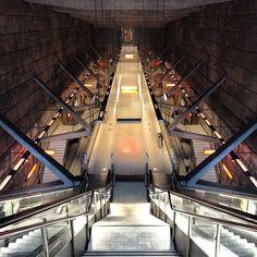 Basque Country, Bizkaia, Bilbao, Sarriko Underground Station by Norman Foster  (www.bilbaoarchitecture.com)