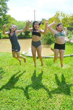 Roupa pra curtir o verão! Top + Short + Regata + Calça (hot pant) #swimsuit #roupaprabanho #slowfashion