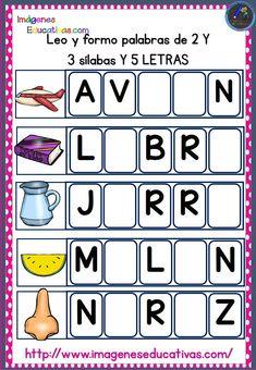 Leo y formo palabras con cinco letras con 2 y 3 sílabas material imprimible   PDF AL FINAL DEL POST Clasificación de las palabras por el número de sílabas y ejemplos Las palabras...