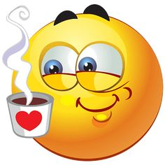 love - Smiley with coffee cup -Coffee love - Smiley with coffee cup - Boxer Emoticon Royalty Free Cliparts, Vectors, And Stock Illustration. Image 5 Smileys Thinking of You Love Smiley, Emoji Love, Bon Weekend, Happy Weekend, Happy Sunday, I Love Coffee, My Coffee, Morning Coffee, Emojis Meanings