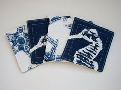 Set of 4 Reversible Fabric Coasters  Premier by GulfBreezeCoasters, $8.00