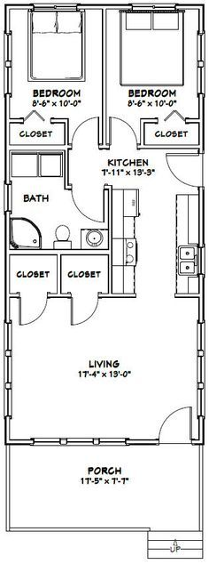 18x40 Tiny House -- #18X40H4G-- 720 sq ft - Excellent Floor Plans