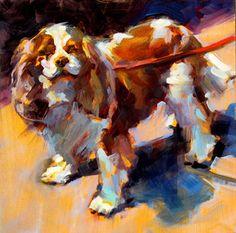 "Daily Paintworks - ""Spaniel"" - Original Fine Art for Sale - © Karen Bruson"