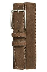 Boconi 'Tyler' Double Stitched Suede Belt