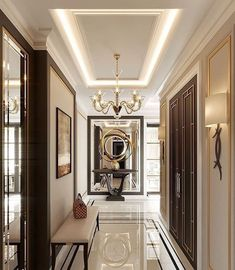 Luxury Homes Interior design & Inspiration Luxury Home Decor, Luxury Interior Design, Luxury Homes, Interior Decorating, Interior Modern, Decorating Tips, Flur Design, Plafond Design, Hall Design
