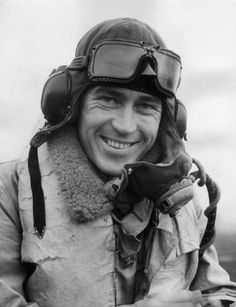 8th December 1940: A Czech fighter pilot at a Hurricane air base in England during World War II. (Photo by William Vanderson/Fox Photos/Getty Images)