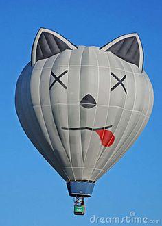 Image of kitty, mexico - 8316437 Flying Balloon, Love Balloon, Big Balloons, Air Balloon Rides, Hot Air Balloon, Albuquerque Balloon Festival, Balloons Galore, Air Ballon, Street Art