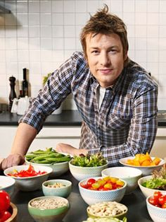 Britain's cooking sensation Jaime Oliver.  Crockpotseasonings.com #chef #celebrity #kitchen
