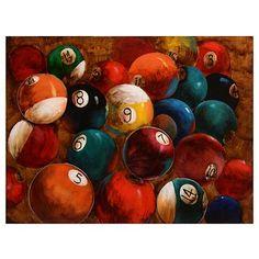 Billiard Balls Canvas Art Print at Kirkland's