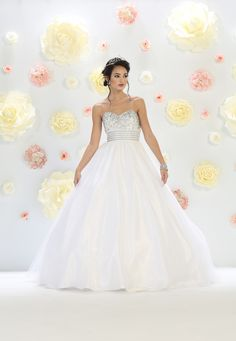 21a194415f 30 Best White Quinceanera Dresses images in 2019