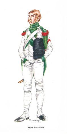 Regno d'Italia, Cacciatore del Rgt Vèliti Soldier 10, Kingdom Of Italy, Naples Italy, Napoleonic Wars, Troops, Cacciatore, Army, Antiques, Landrover Defender