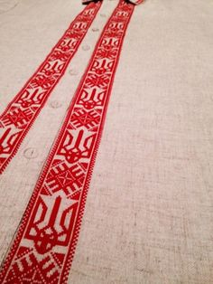 Tryzub vertical embroidery