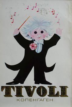 1972 Tivoli Gardens by Richardt Branderup (3rd version) - Original Vintage Poster
