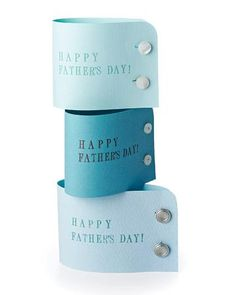 Shirt Cuff Card for Dad