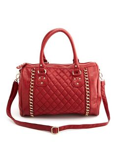 Quilted Double Chain Satchel Bag: Charlotte Russe
