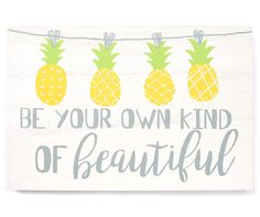 "Sweet Summertime ""Be Your Own Kind Of Beautiful"" Box Plaque  at Big Lots."