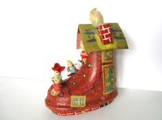 Vintage Christmas Ornament Old Woman Who Lived in a by NeatoKeen, $42.00