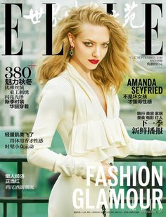 Actor Amanda Seyfried fronts Elle China September styled by Hubert Chen in Dior, Nina Ricci, Ralph Lauren and more. Amanda showcases red glamour in images by Feng Hai. V Magazine, Fashion Magazine Cover, Fashion Cover, Daily Fashion, Magazine Covers, Magazine Photos, China Fashion, Amanda Seyfried, Vanity Fair